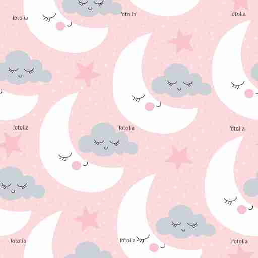 Zobacz obraz seamless moon and clouds pattern vector illustration