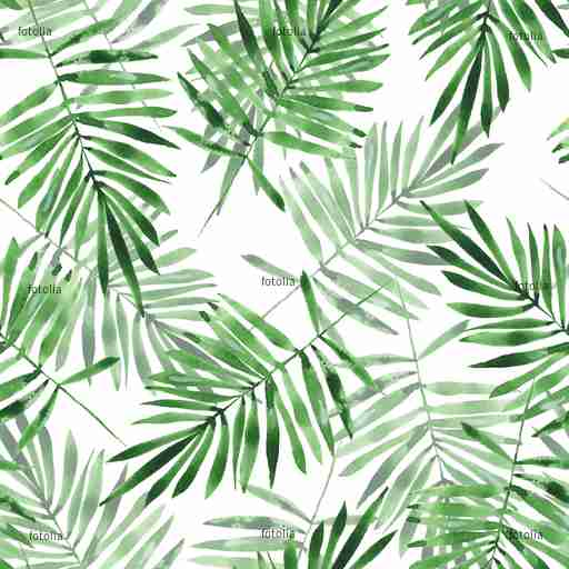 Zobacz obraz Green leaves. Watercolor seamless pattern. Hand drawn floral background
