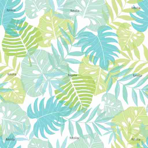 Zobacz obraz Vector light tropical leaves summer hawaiian seamless pattern with tropical green plants and leaves