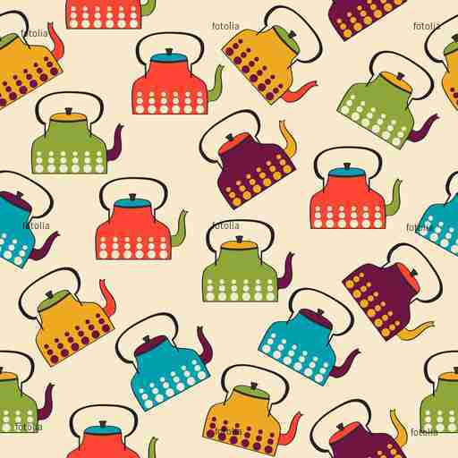 Zobacz obraz funny seamless pattern with kettles