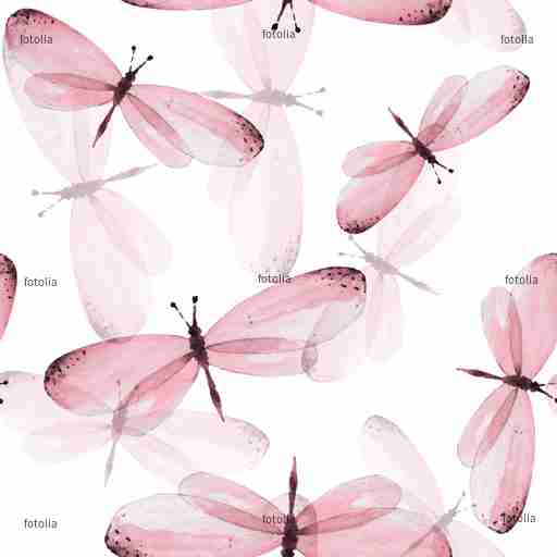 Zobacz obraz The pattern of butterflies. Seamless vector background. Watercolor illustration 10