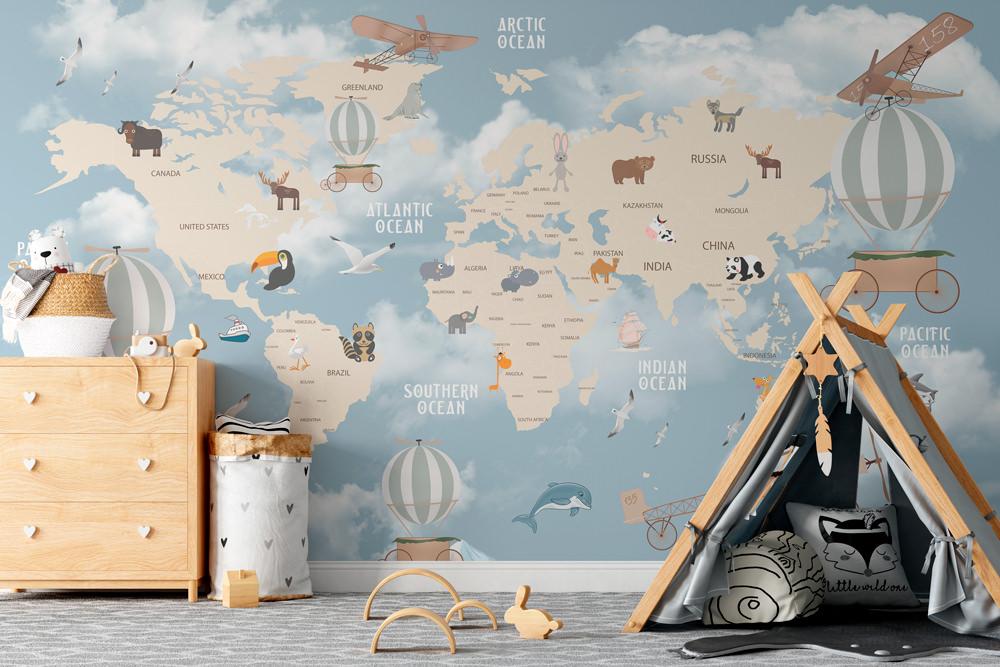 Fototapeta - Samolotem dookoła świata - fototapeta.shop