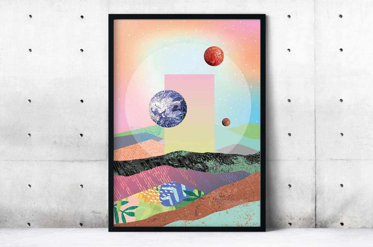 Plakat - Kolorowe planety - fototapeta.shop