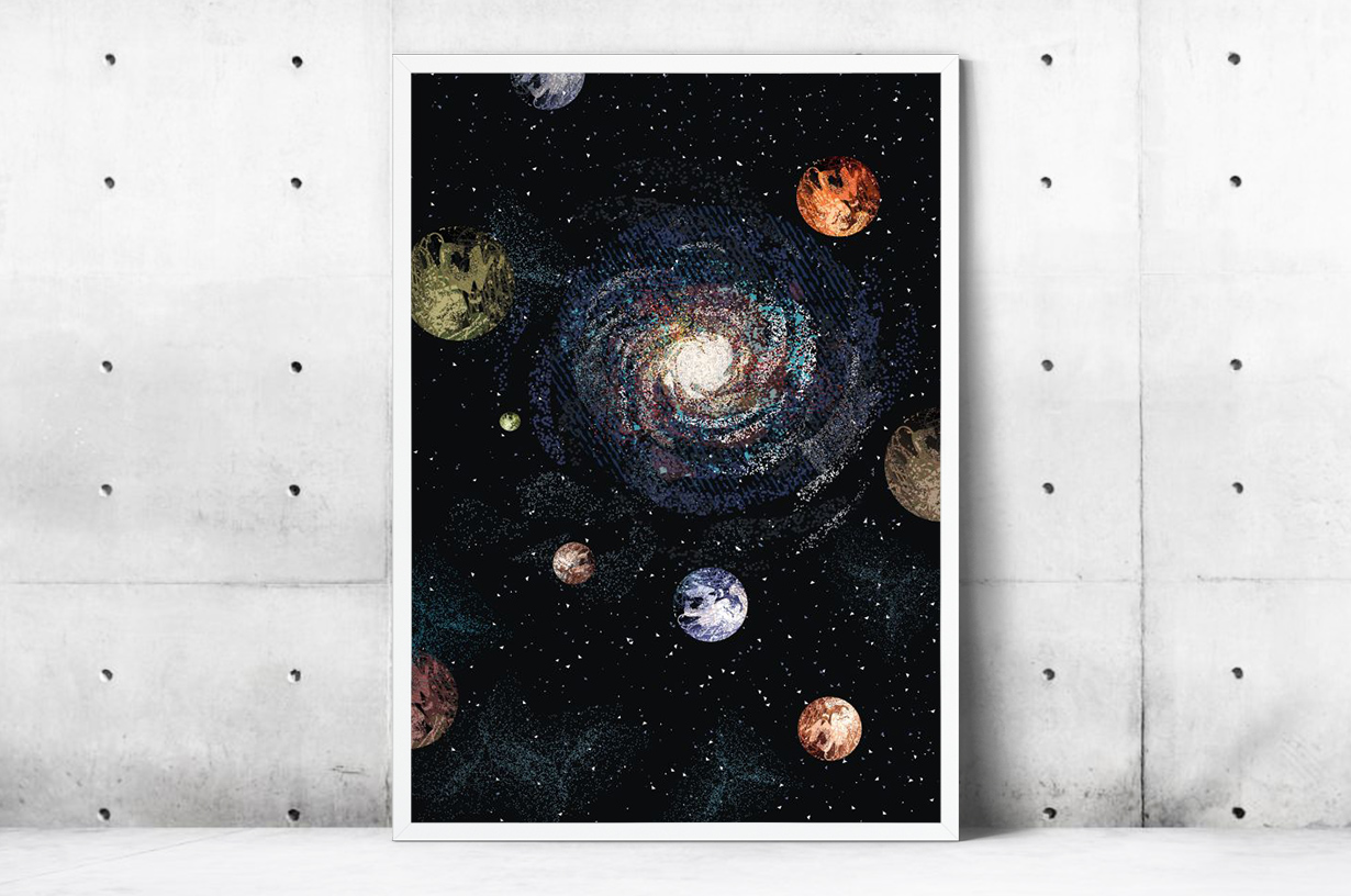 Plakat - Układ planetarny - fototapeta.shop