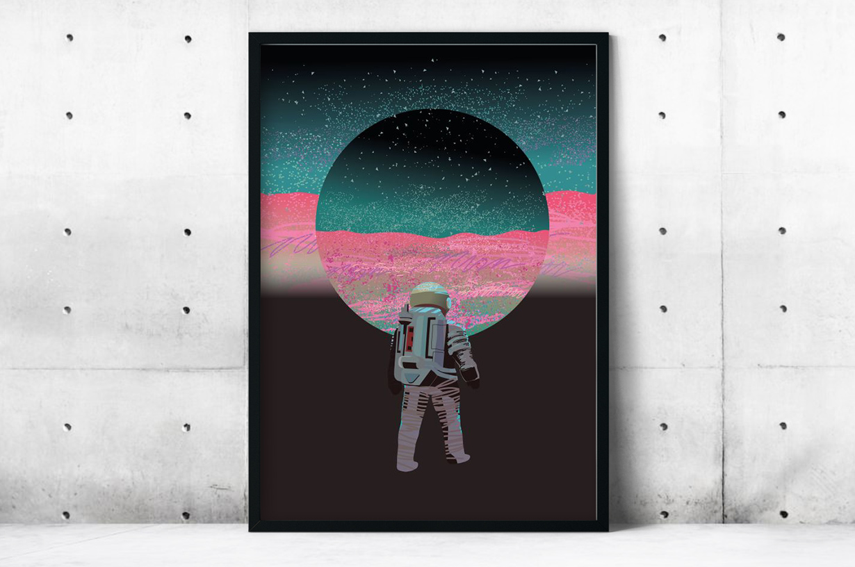 Plakat - Astronauta - fototapeta.shop