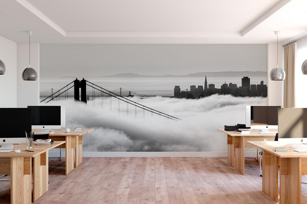 Fototapeta - Golden Gate w chmurach - fototapeta.shop