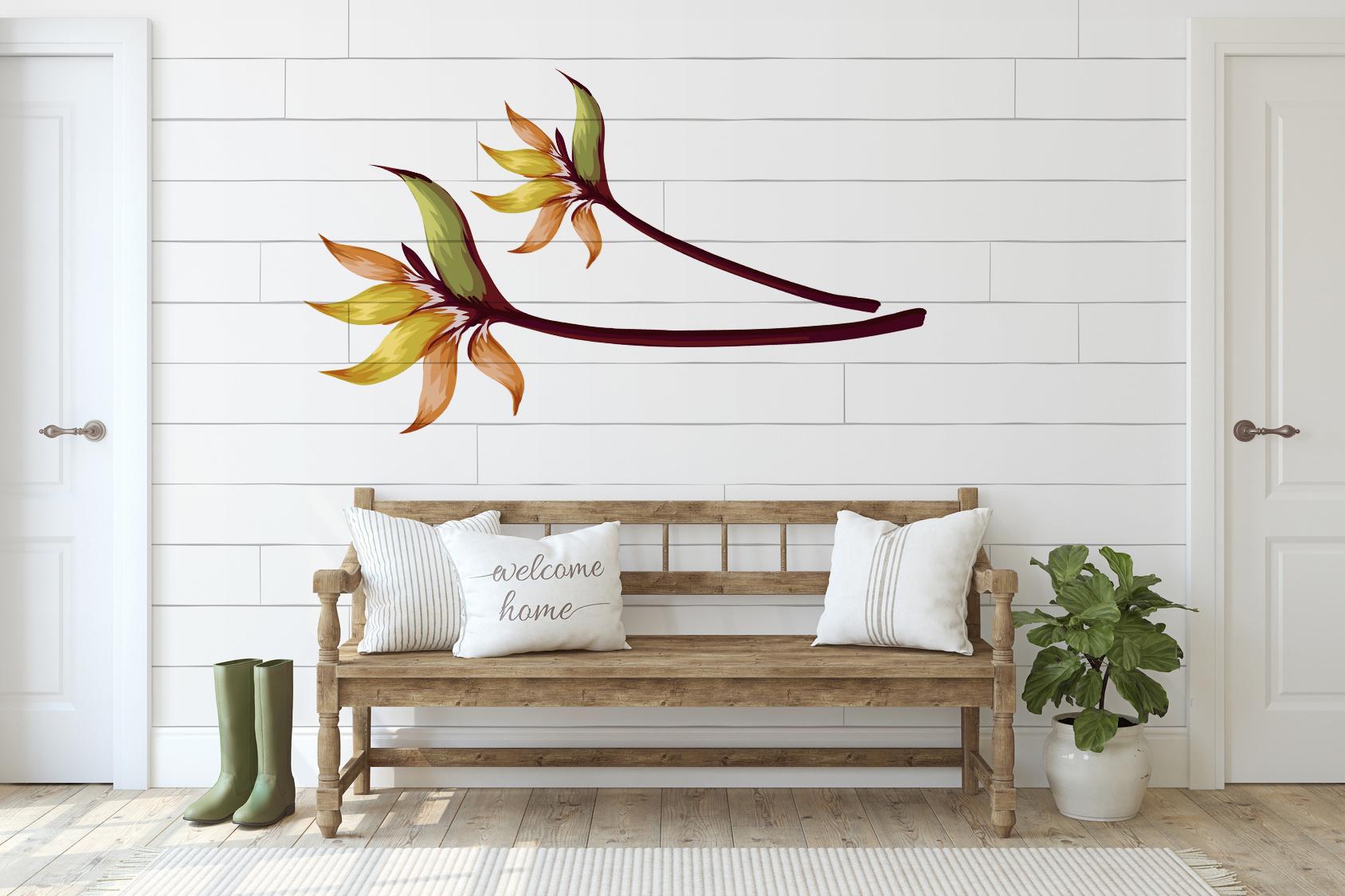 Naklejka - Tajemniczy kwiat - fototapeta.shop