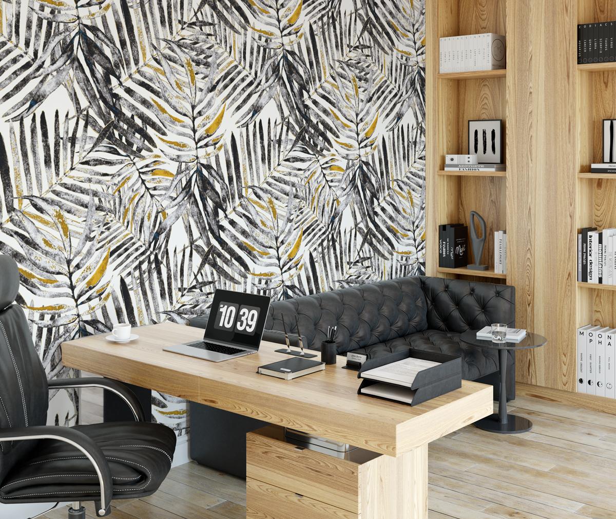 Tapeta - Monochromatyczne palmy - fototapeta.shop