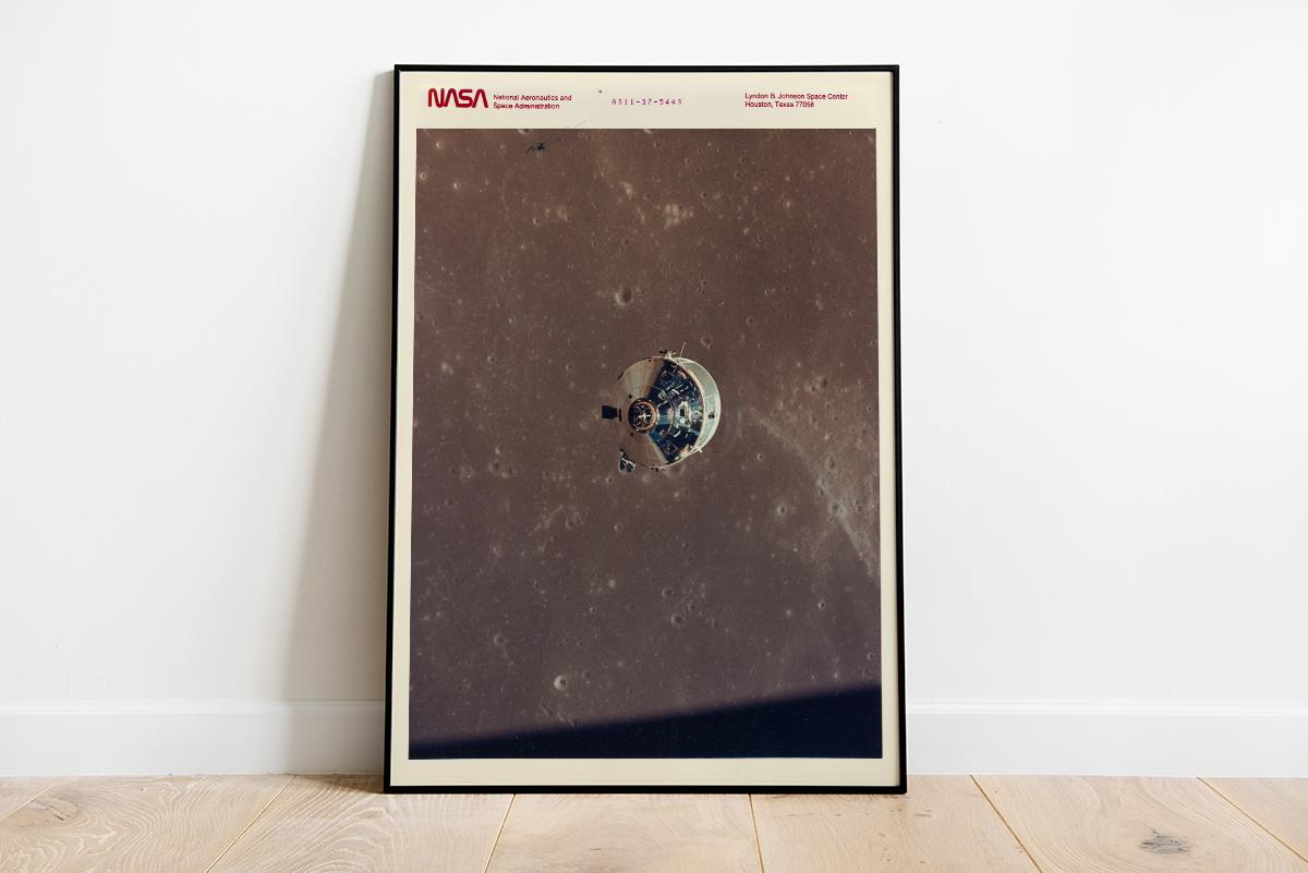 Plakat - Kapsuła Apollo 11 - plakat NASA - fototapeta.shop