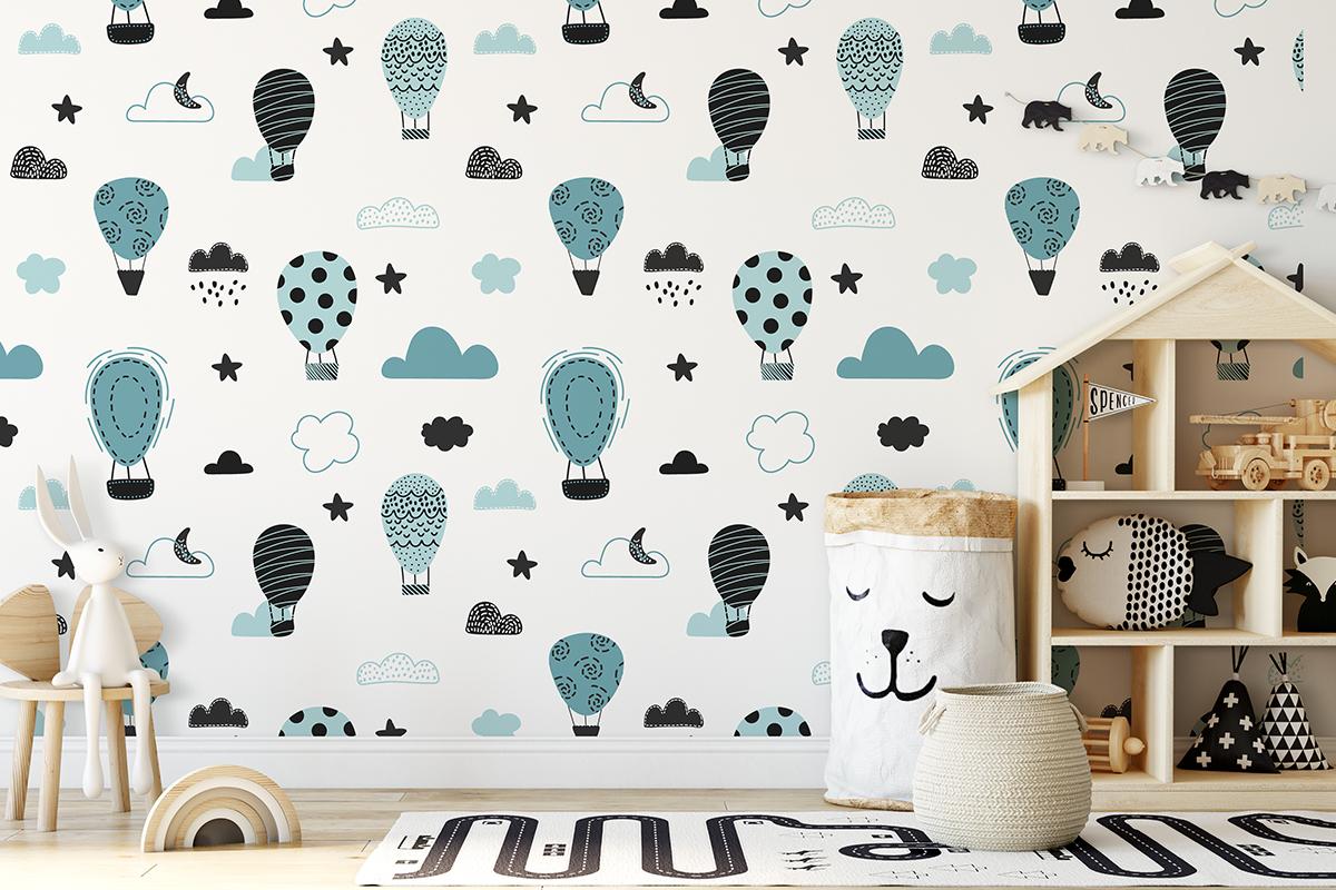 Tapeta - Balony w odcieniach niebieskiego - fototapeta.shop