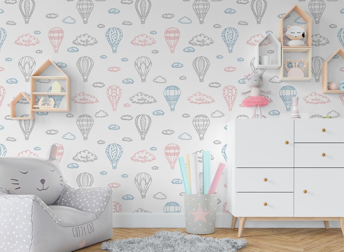 Tapeta - Pastelowe balony - fototapeta.shop