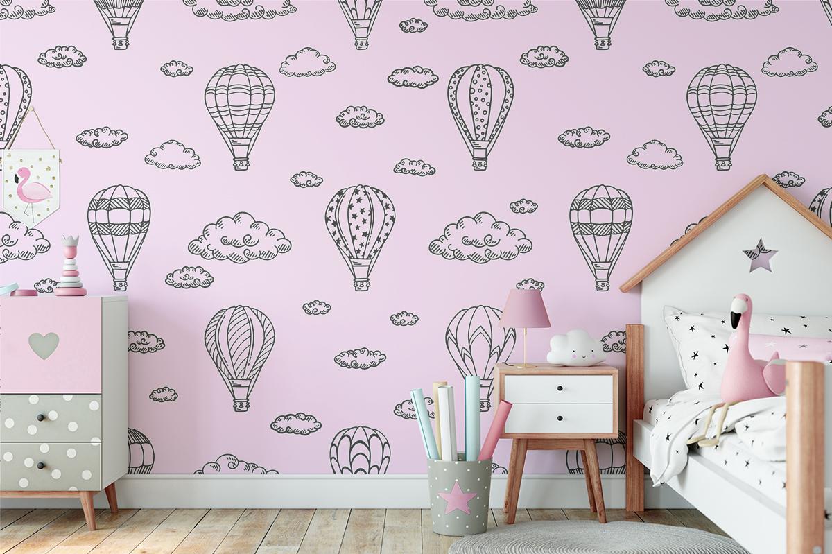 Tapeta - Różowe balony - fototapeta.shop