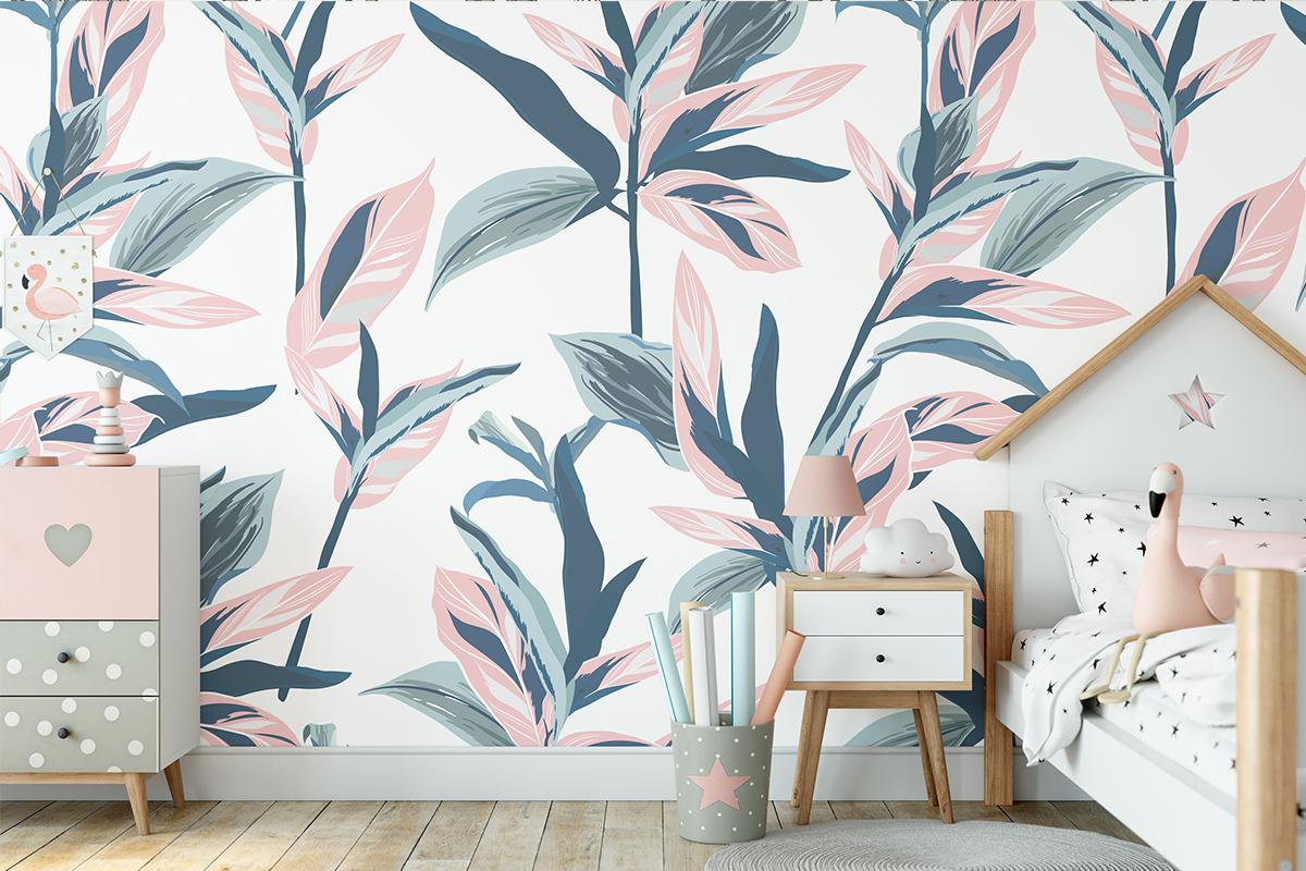 Tapeta - Roślinny motyw w zgaszonych barwach - fototapeta.shop