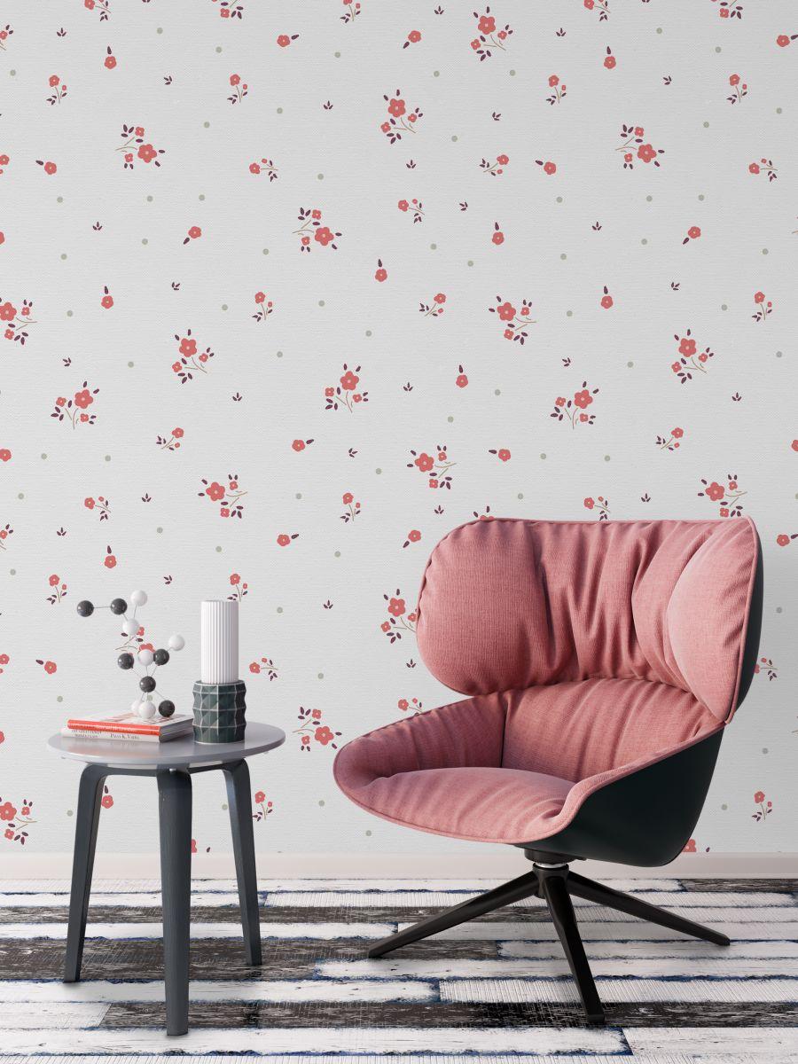 Tapeta - Drobny kwiatowy wzór - fototapeta.shop
