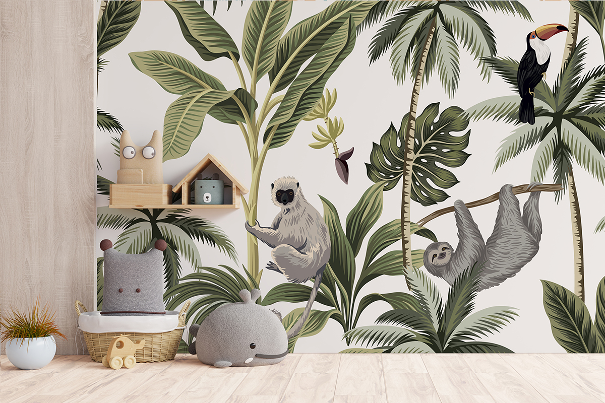 Tapeta - Leniwce w dżunglii - fototapeta.shop