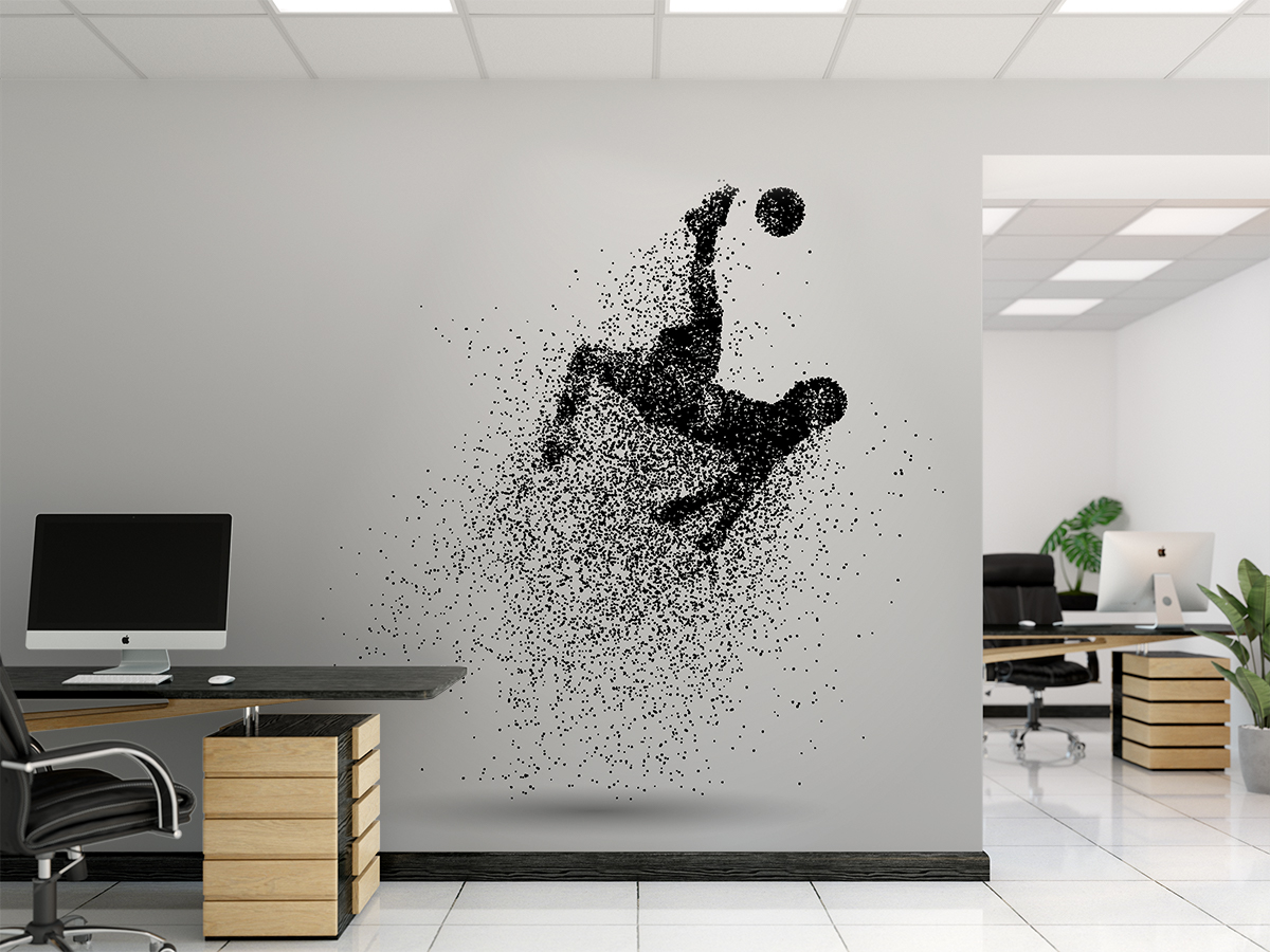 Fototapeta - Piłkarz w pikselach - fototapeta.shop