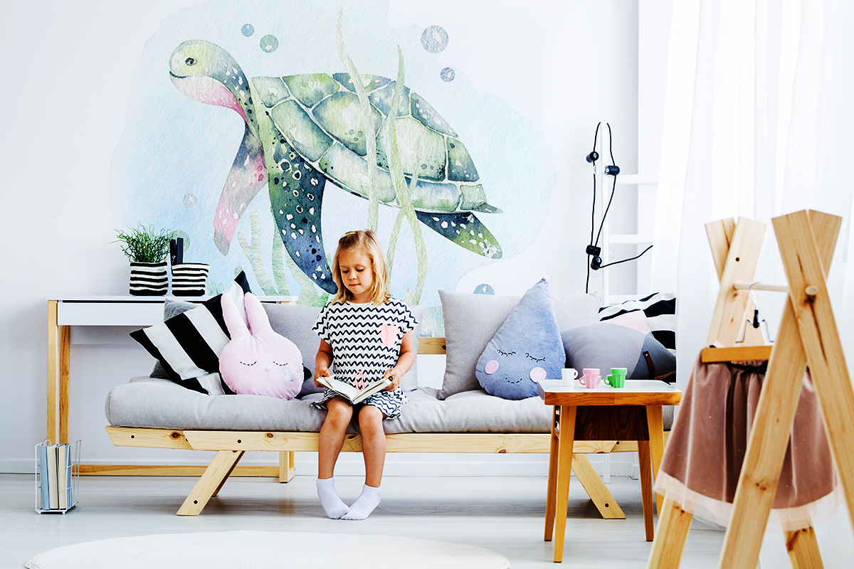 Fototapeta - Malowany żółwik - fototapeta.shop