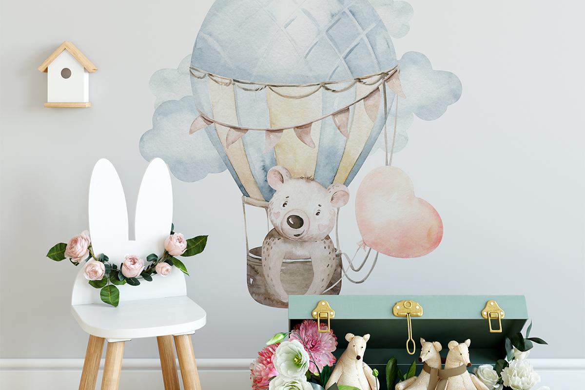 Fototapeta - Miś w balonie - fototapeta.shop