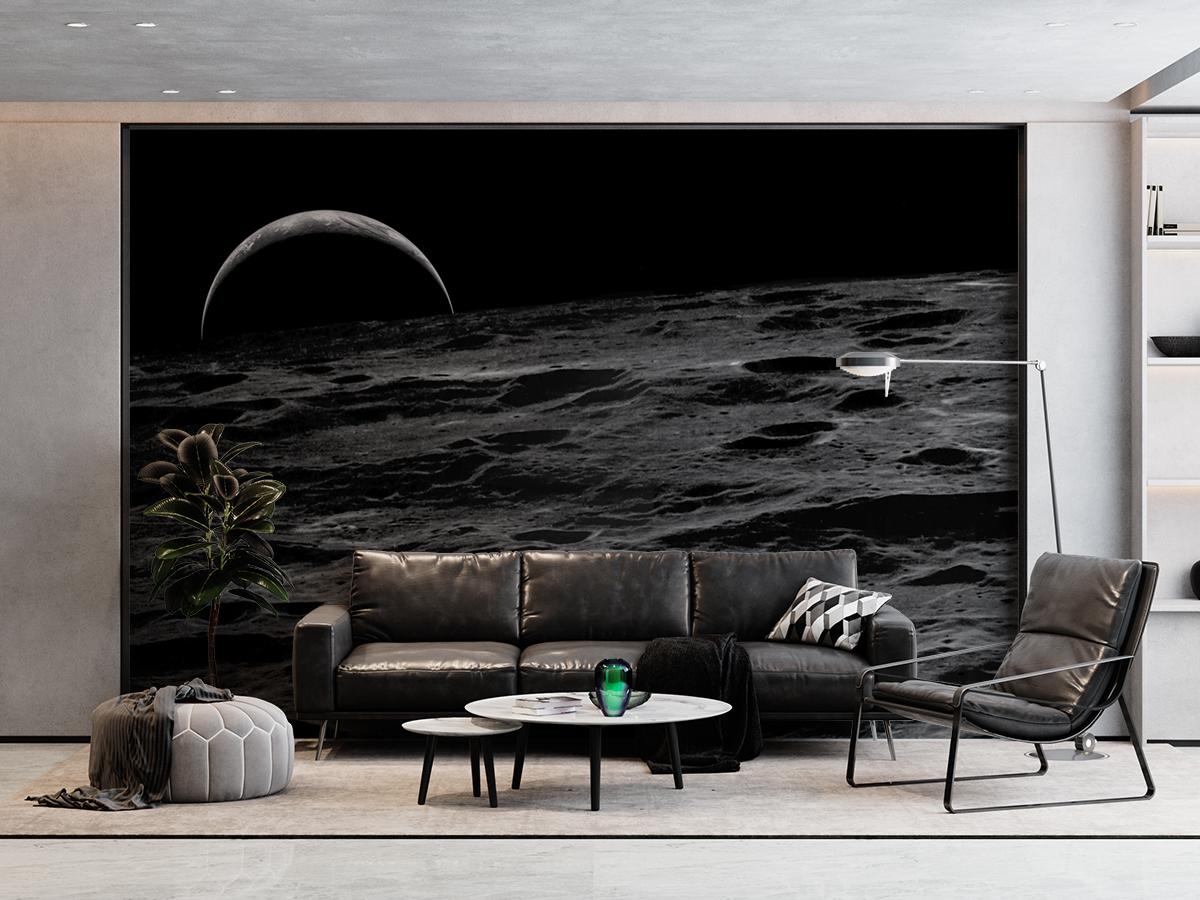 Fototapeta - Ziemia z księżyca - fototapeta.shop