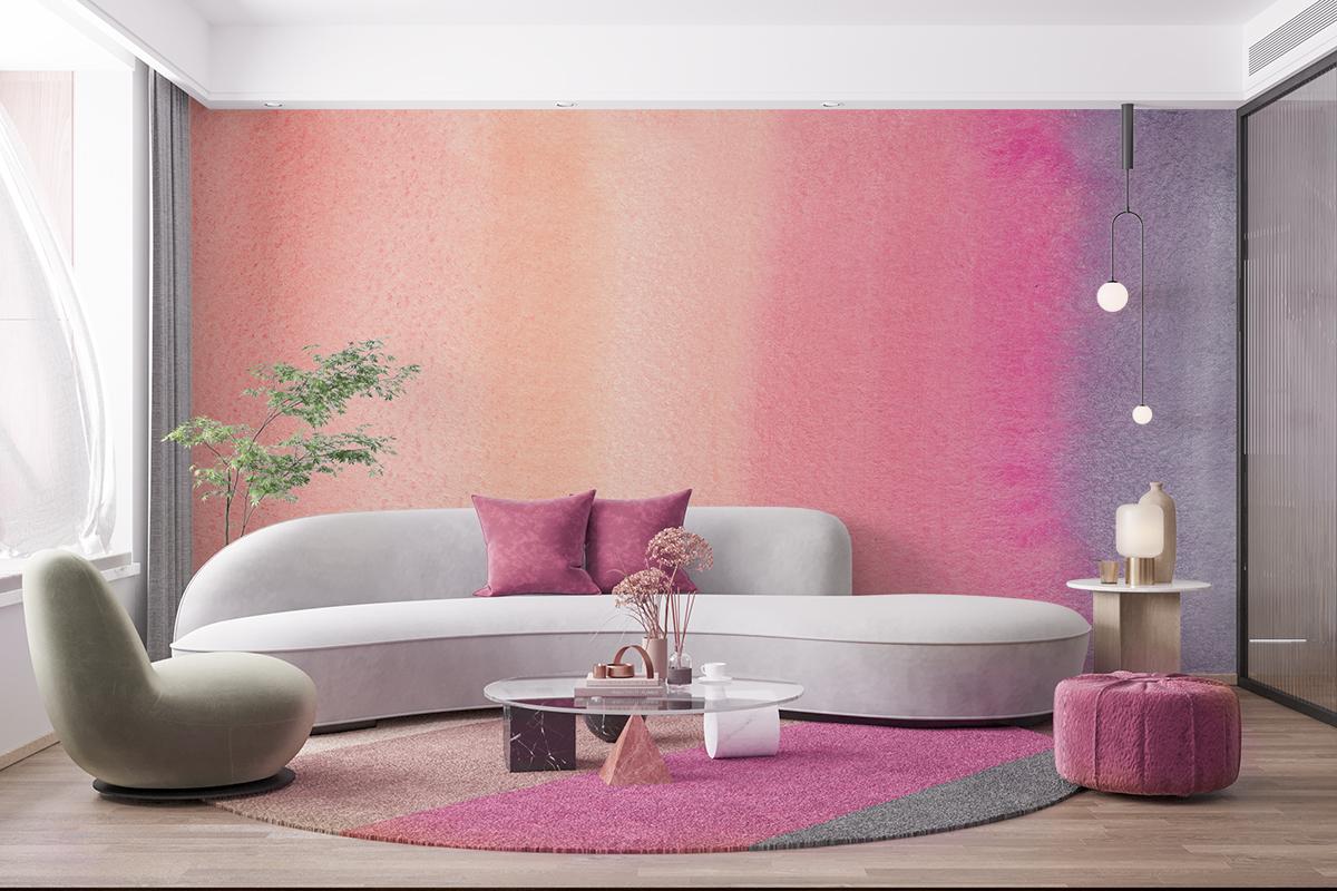 Fototapeta - Ombre w odcieniach różu - fototapeta.shop