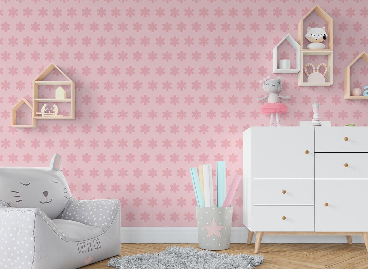 Tapeta - Pastelowe, różowe kwiatki - fototapeta.shop