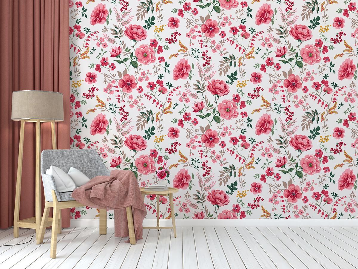 Tapeta - Kwiaty w żywych barwach - fototapeta.shop