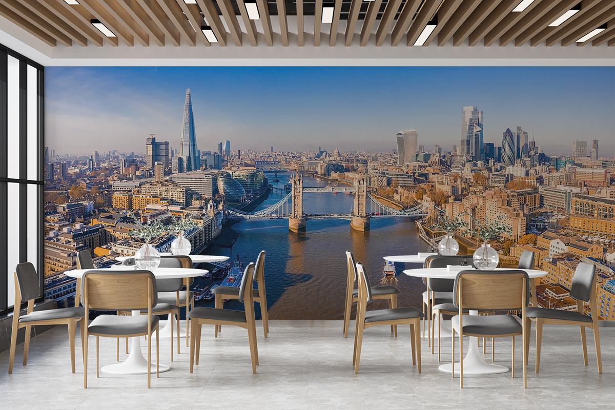 Fototapeta - Londyn panorama z Tower Bridge - fototapeta.shop