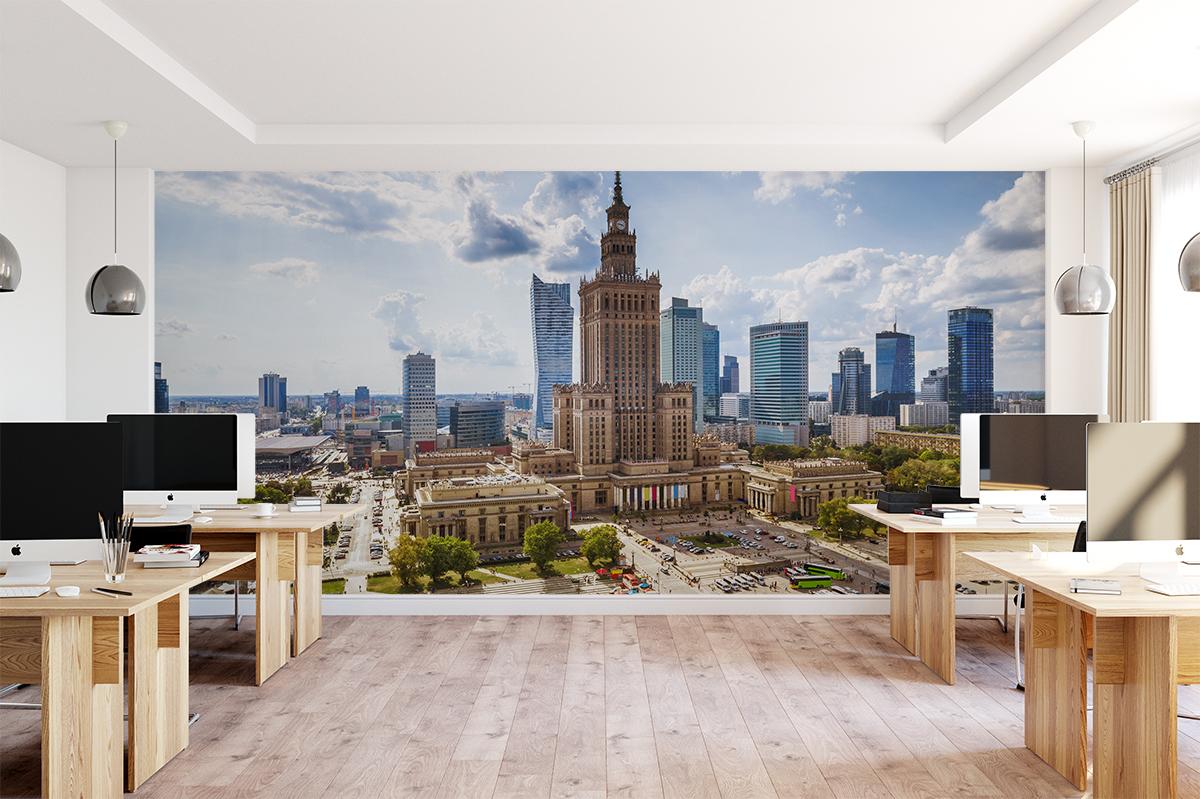 Fototapeta - Panorama z Pałacem Kultury i Nauki - fototapeta.shop