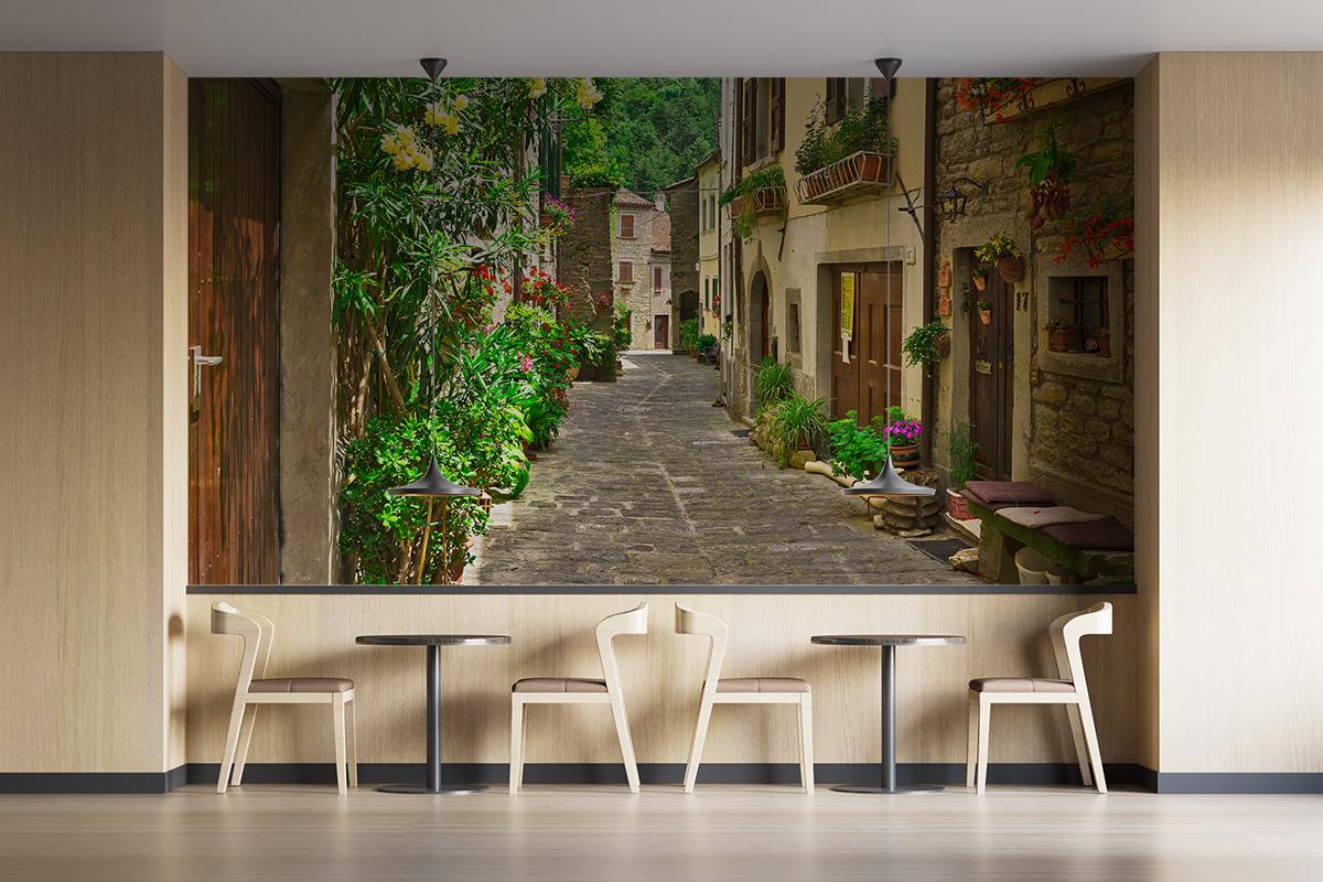 Fototapeta - Zaułek we włoskim miasteczku - fototapeta.shop