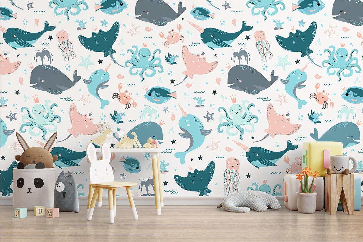 Tapeta - Morskie zwierzęta - fototapeta.shop