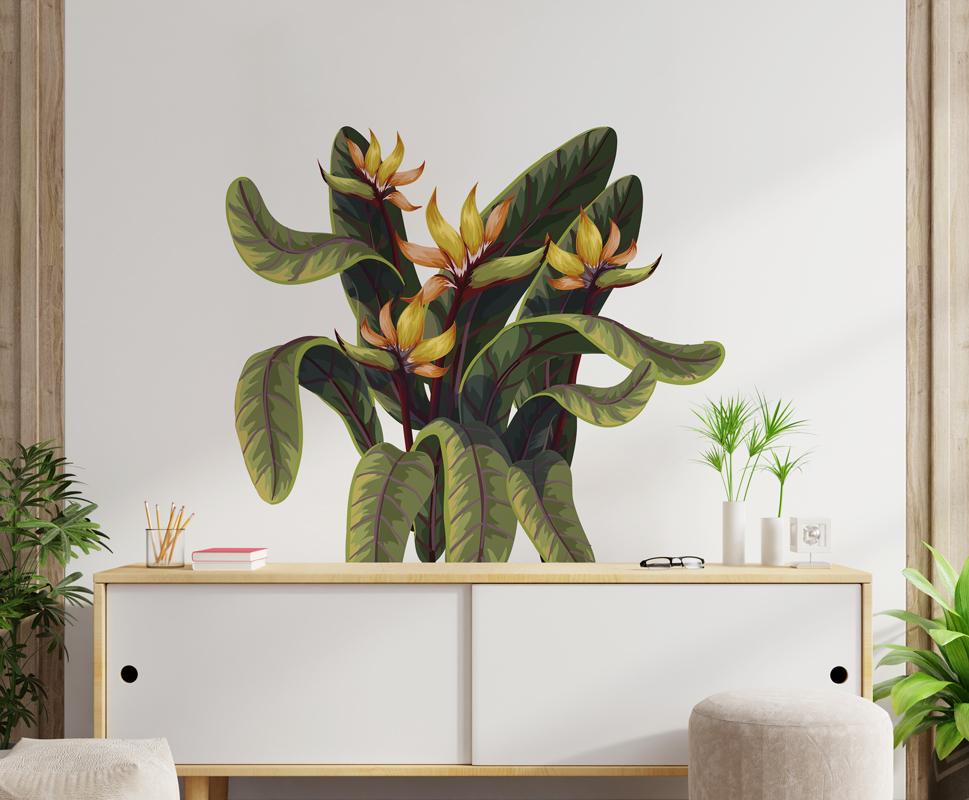 Naklejka - Egzotyczny kwiat - fototapeta.shop