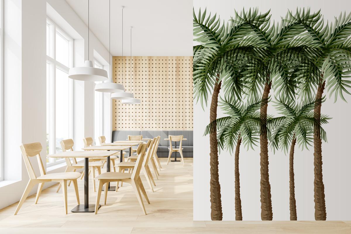 Naklejka - Palma kokosowa - fototapeta.shop