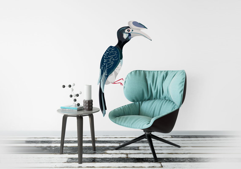 Naklejka - Egzotyczny ptak - fototapeta.shop
