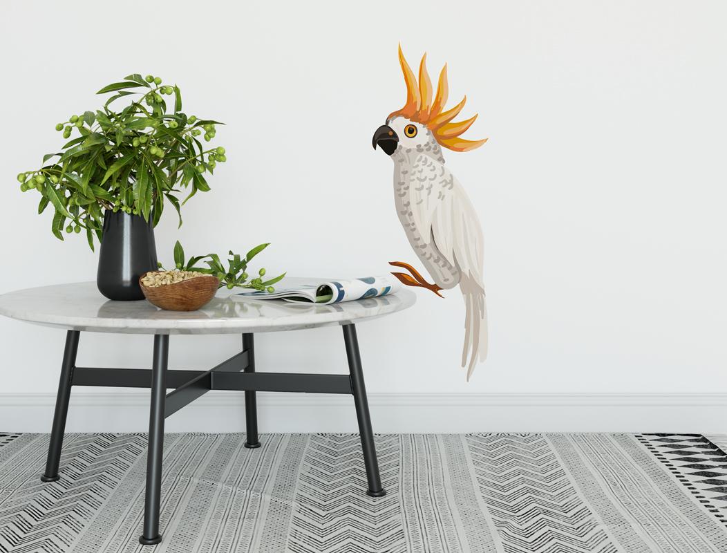 Naklejka - Biała papuga - fototapeta.shop