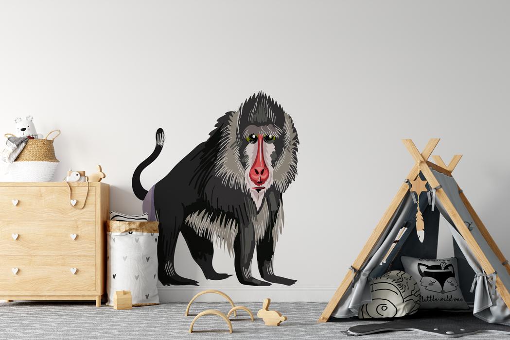 Naklejka - Małpa - fototapeta.shop