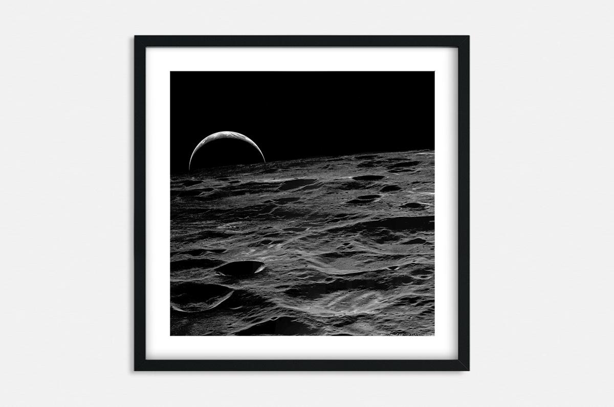 Plakat - Ziemia z księżyca - fototapeta.shop