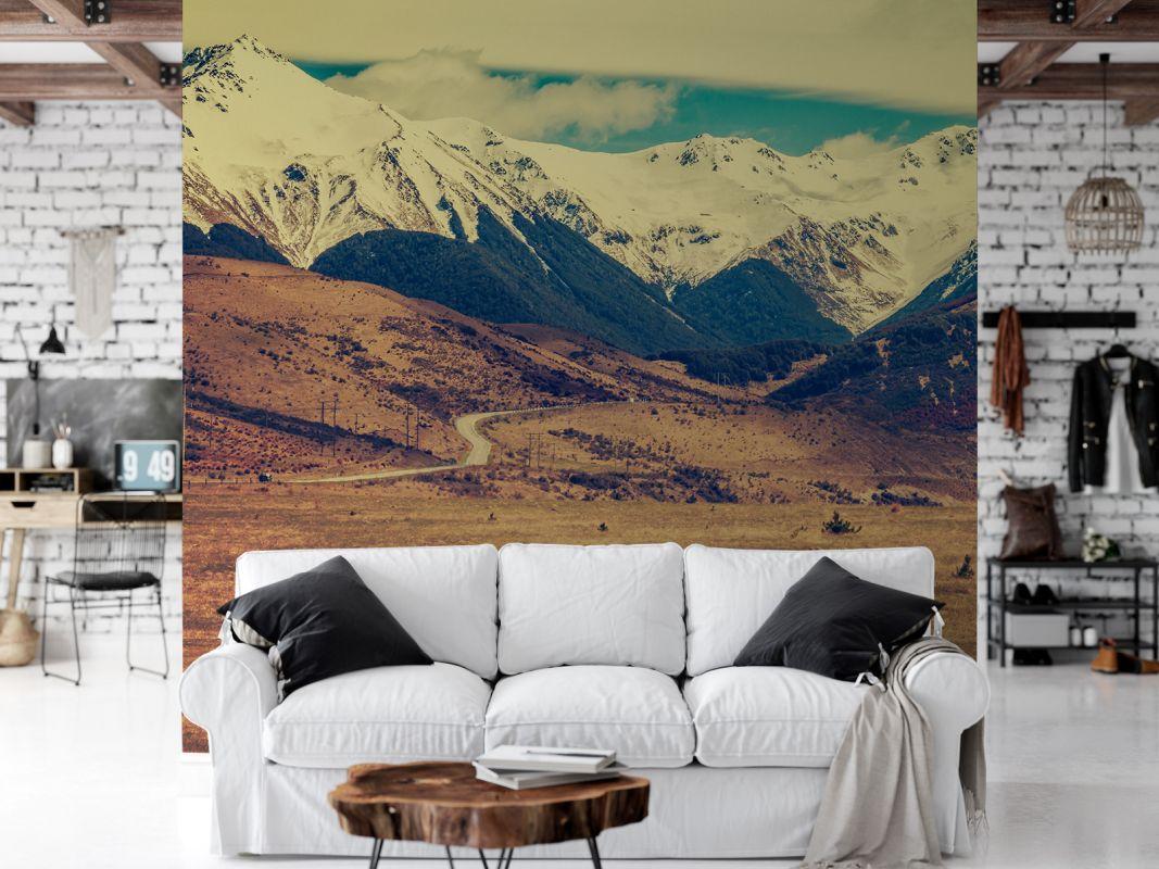 Fototapeta - Góry w klimacie retro - fototapeta.shop