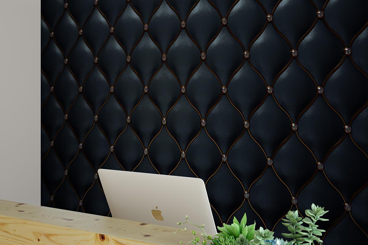 Fototapeta - Czarny materiał z miedzianą nicią - fototapeta.shop