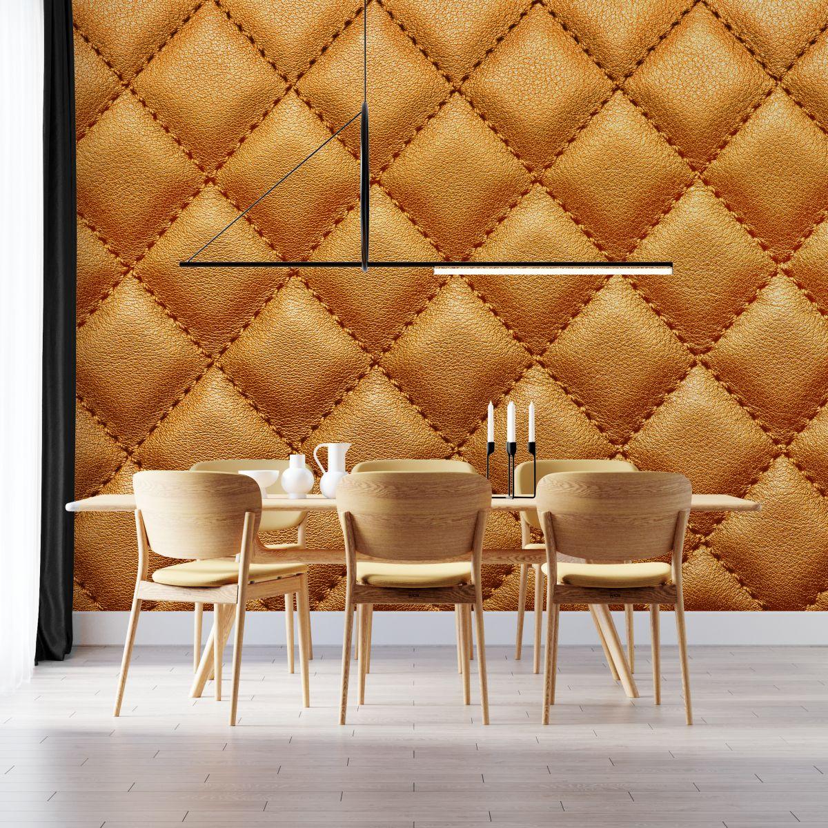 Fototapeta - Materiałowy wzór w odcieniach złota - fototapeta.shop