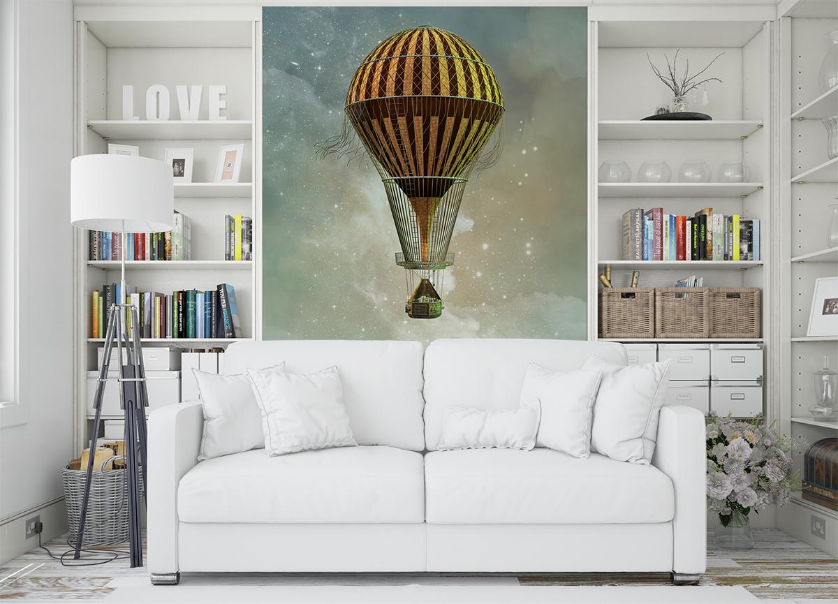Fototapeta - Balon w stylu steampunk - fototapeta.shop