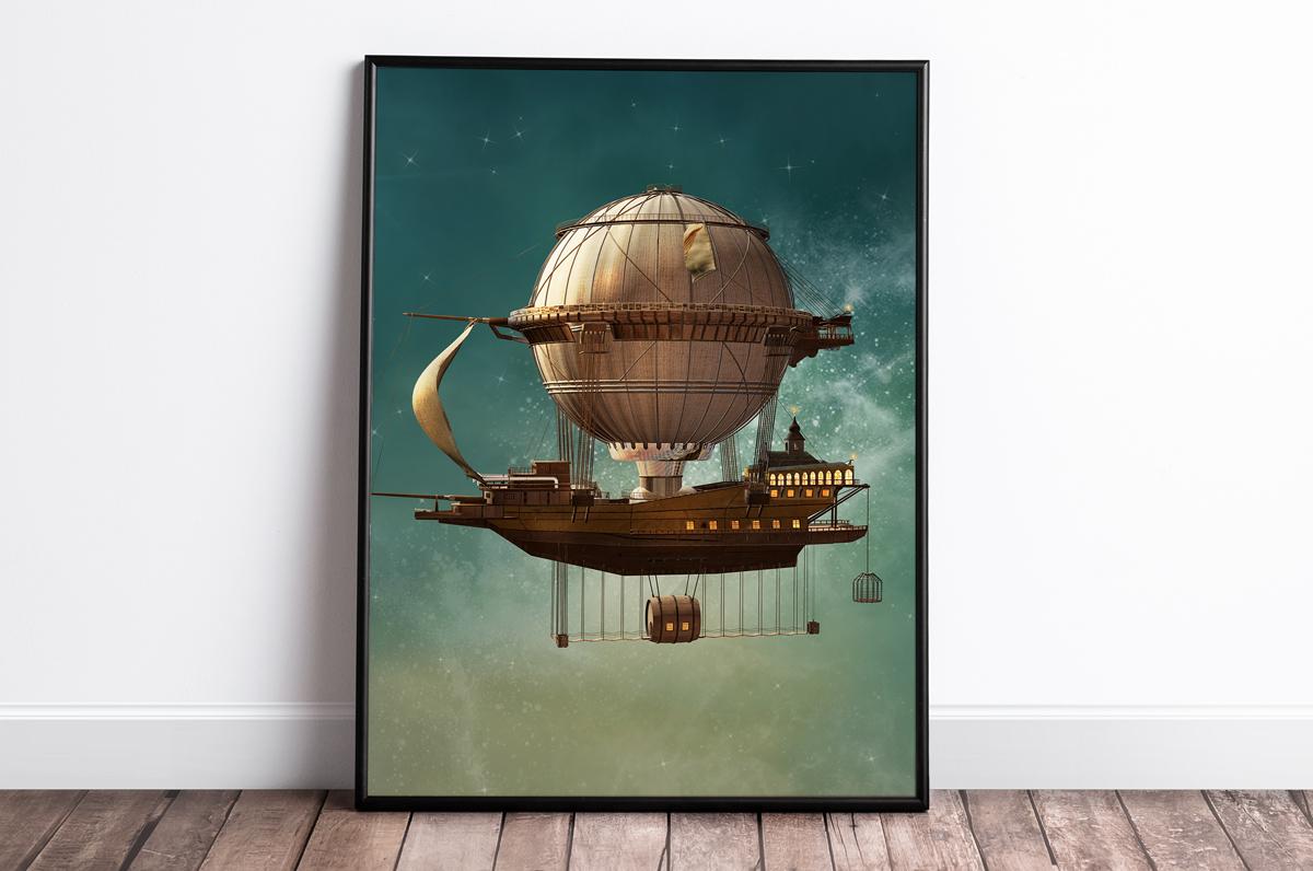 Plakat - Maszyna latająca - fototapeta.shop