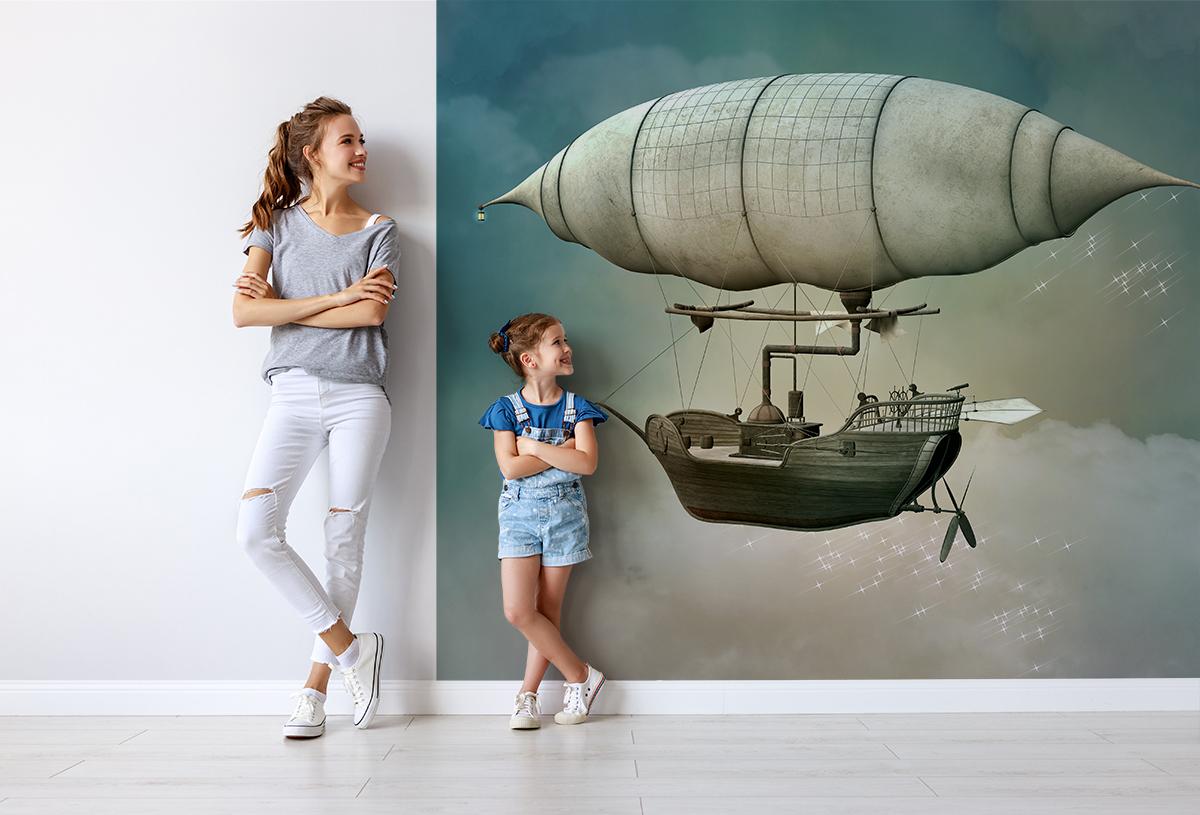 Fototapeta - Powietrzna łódź - fototapeta.shop