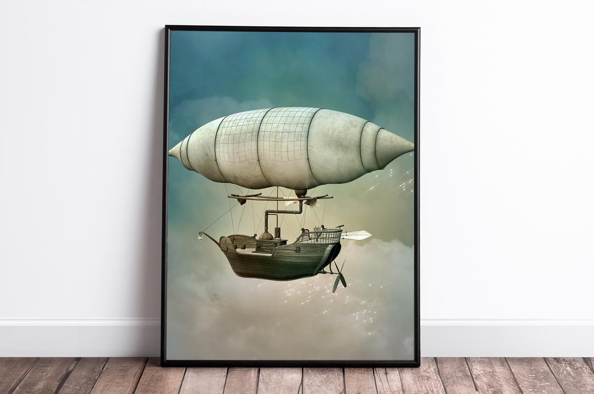 Plakat - Powietrzna łódź - fototapeta.shop