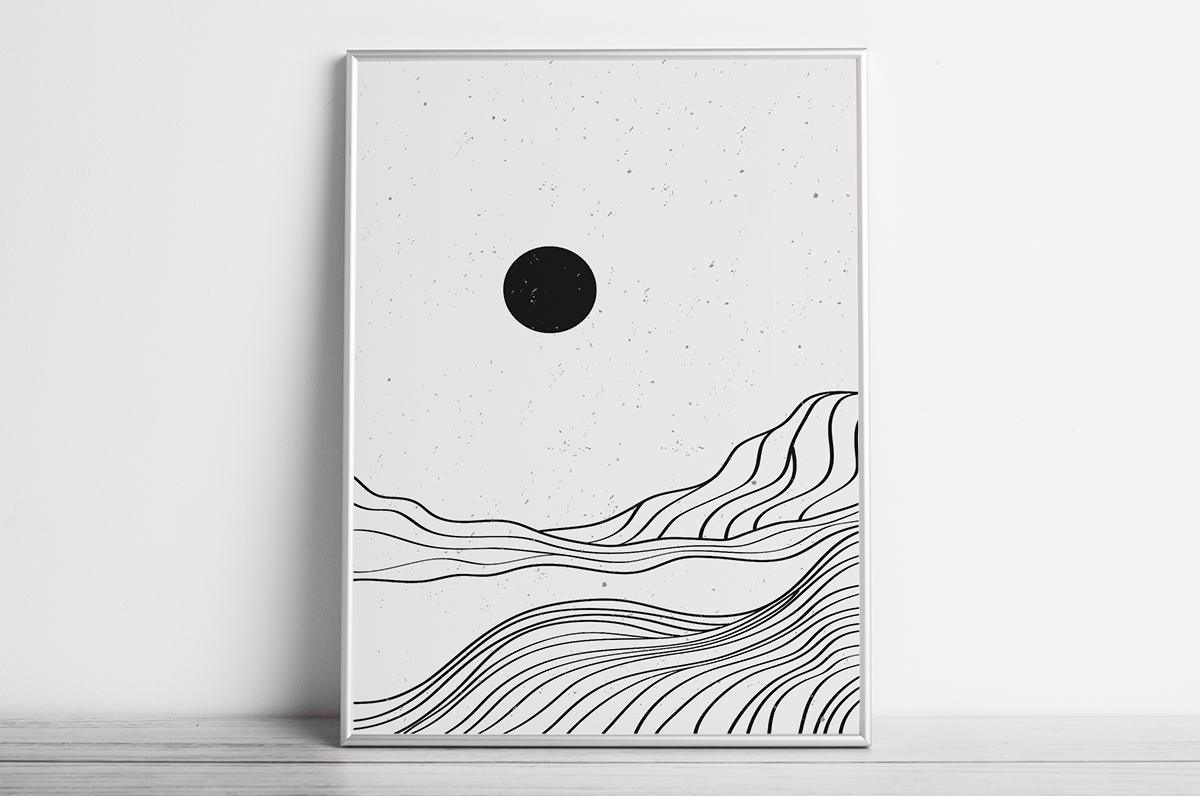 Plakat - Czarne słońce - fototapeta.shop