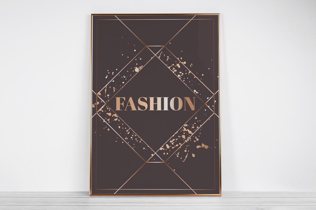 Plakat - Napis Fashion - fototapeta.shop