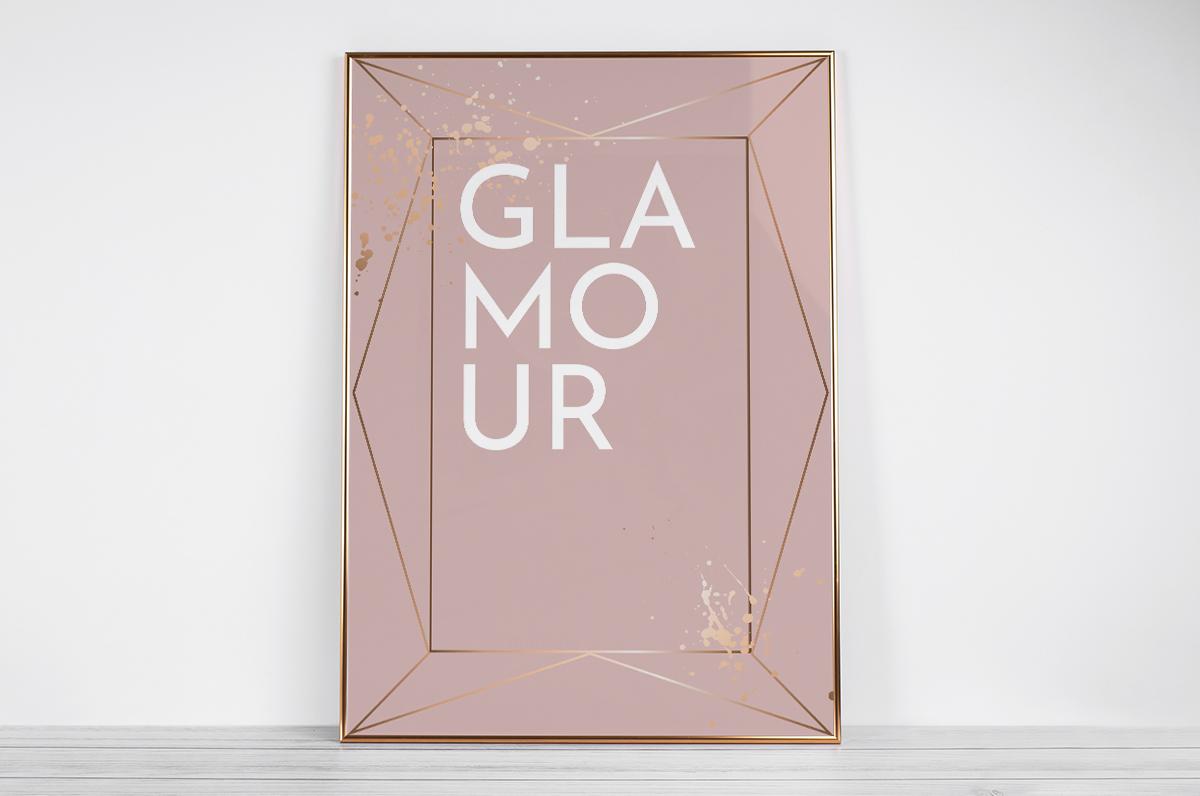 Plakat - Napis Glamour - fototapeta.shop