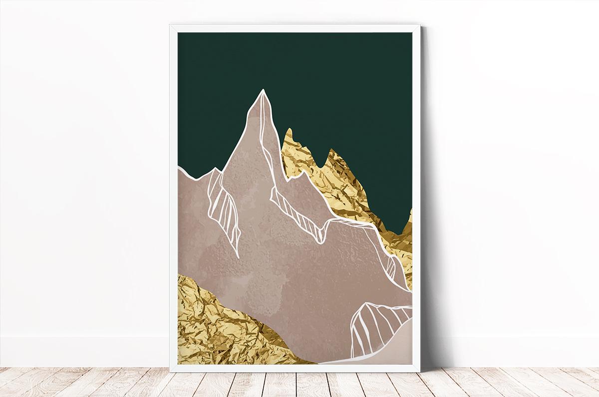 Plakat - Szczyt góry w kolażu - fototapeta.shop
