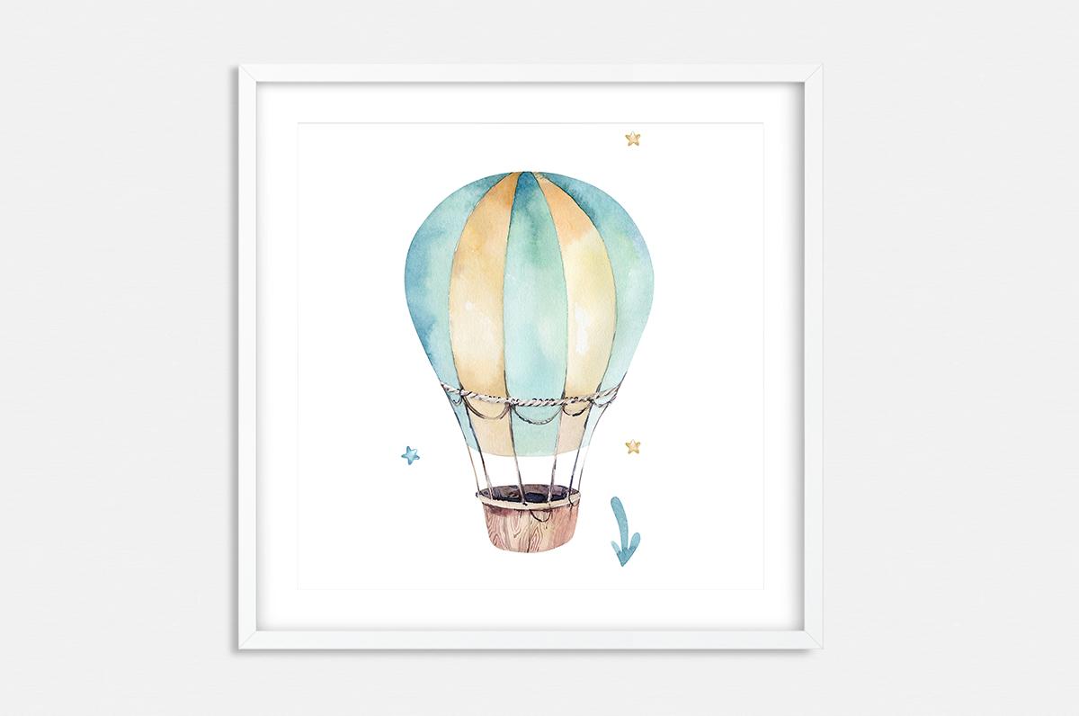 Plakat - Balon malowany farbami - fototapeta.shop
