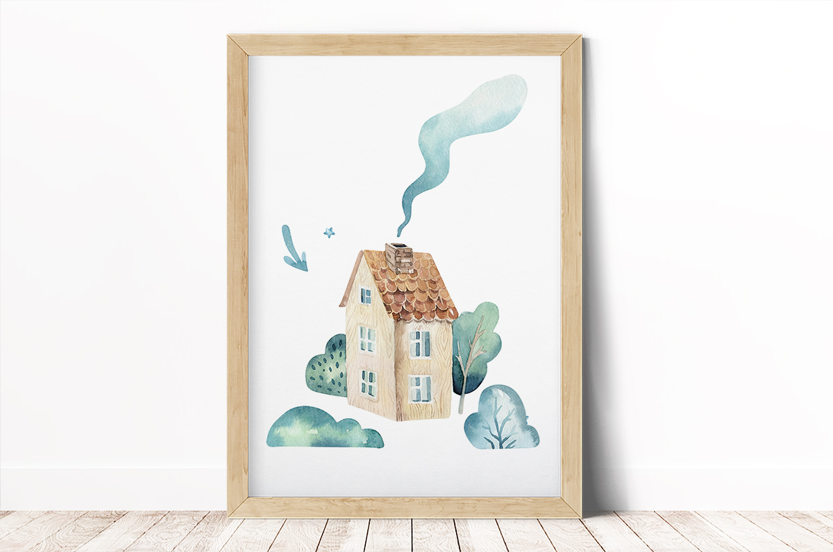 Plakat - Malowany domek - fototapeta.shop
