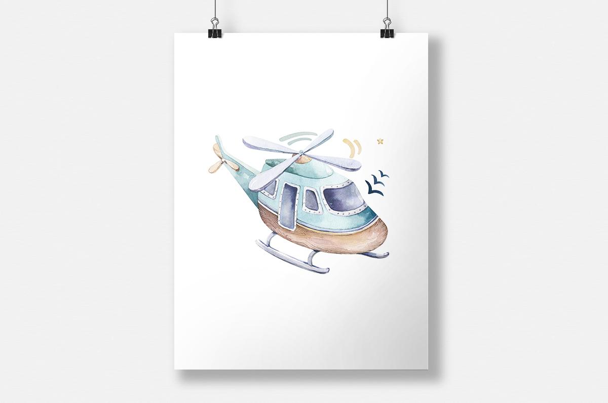 Plakat - Helikopter - fototapeta.shop
